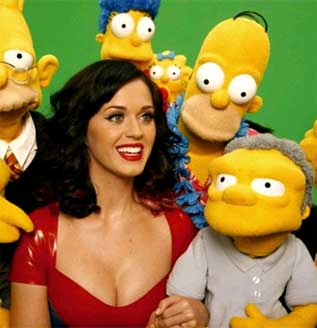 Katy Perry con Los Simpsons